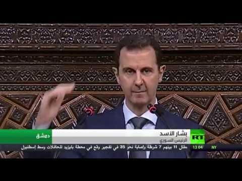 بالفيديو الرئيس الأسد يؤكد أن لا حل خارج ورقة المبادئ السورية