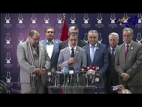 المغرب اليوم  - شاهد سعد الدين العثماني يُعلن أسماء الأحزاب المشاركة في الحكومة الجديدة