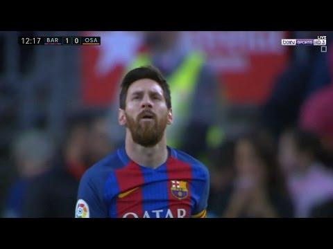 المغرب اليوم  - بالفيديو هدف لاعب برشلونة ليونيل ميسي في مباراة أوساسونا