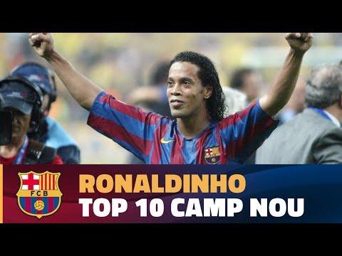المغرب اليوم  - شاهد أفضل 10 أهداف لرونالدينهو مع برشلونة