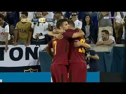 شاهد  أهداف المباراة المجنونة توتنهام 2 3 روما