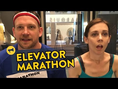 المغرب اليوم  - شاهد ماراثون جري في المصعد
