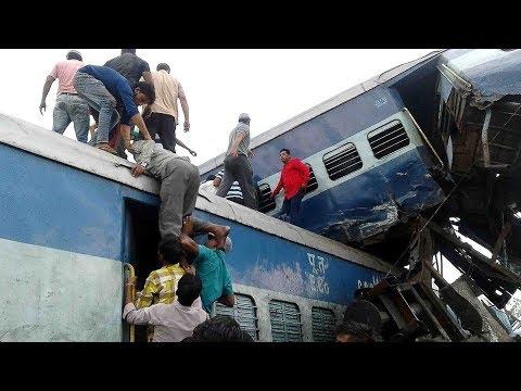 المغرب اليوم  - بالفيديو خروج قطار هندي عن مساره