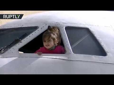 المغرب اليوم - شاهد افتتاح روضة للأطفال في طائرة قديمة في جورجيا