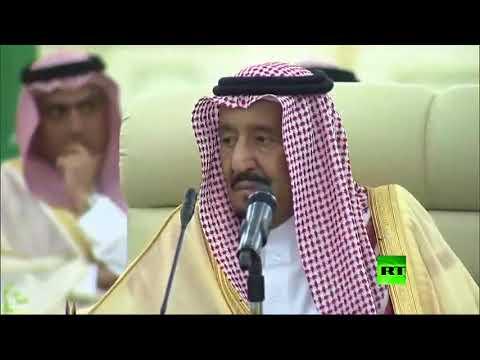 المغرب اليوم - لحظة استقبال الملك السعودي سلمان لوزير الخارجية الأميركي
