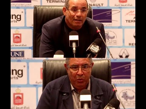 شاهد المؤتمر الصحافي للمدربين عزيز العامري وبادو الزاكي