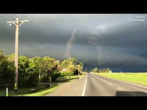 شاهد سر ظهور يدين عملاقتين في سماء أستراليا