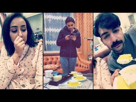شاهد شوق الهادي تستولي على كعكة زعفران فرح وعقيل