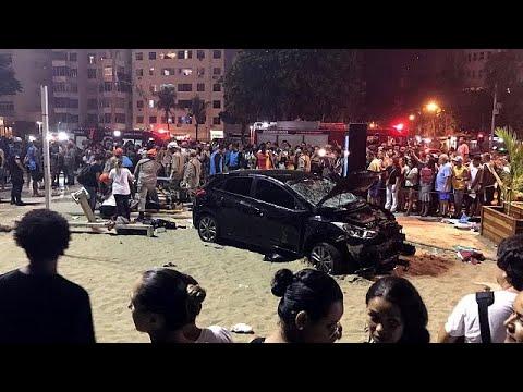 شاهد مقتل طفل وجرح 15 شخصاً في حادث دهس بشاطئ كوباكابانا
