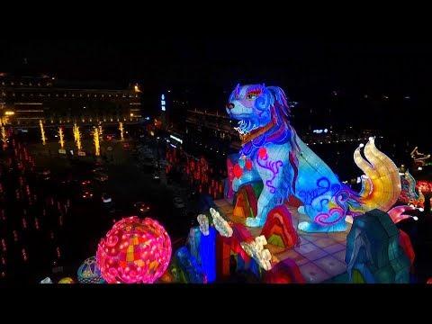 شاهد  انطلاق مهرجان فوانيس الربيع في الصين
