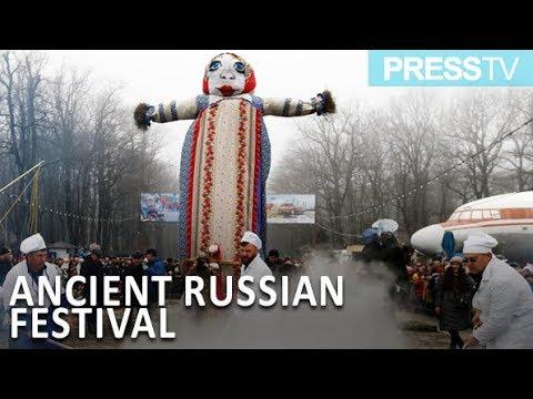 شاهد احتفال الروس بعيد ماسلينيتسا الشعبي