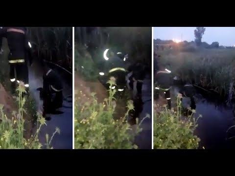 شاهدلحظة العثور على جثة سيدة داخل بركة ماء في فاس