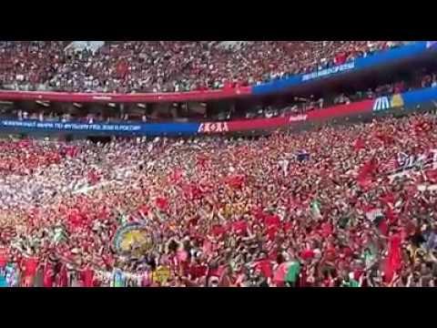 شاهد تبوريشة النشيد الوطني في مباراة المغرب ضد البرتغال