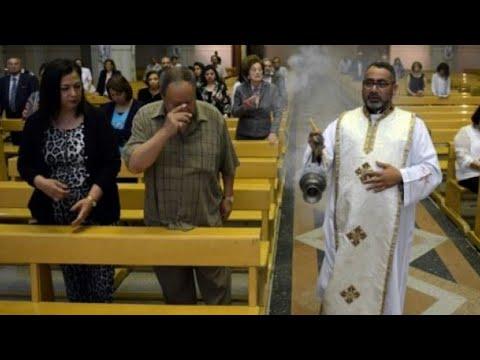 شاهد إحباط محاولة مهاجم انتحاري استهداف كنيسة العذراء شمال القاهرة