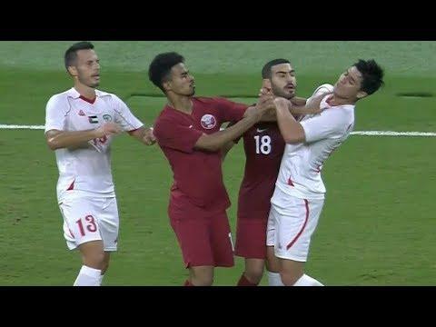 المنتخب القطري يفوز بثلاثية نظيفة الفلسطيني الثلاثاء