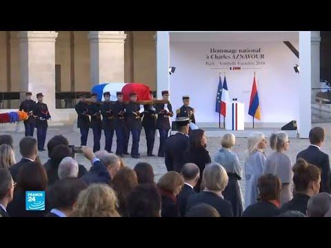شاهد فرنسا تُودِّع شارل أزنافور في جنازة وطنية رسمية مهيبة