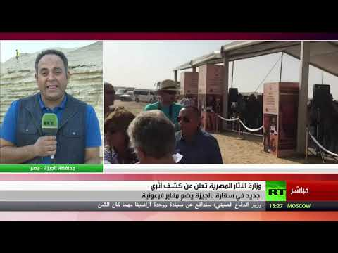 كشف أثري جديد في منطقة سقارة في محافظة الجيزة