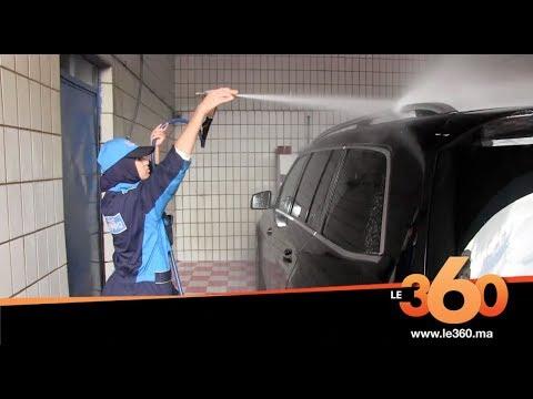 شاهد أوّل فتاة تمتهن غسل السيارات في مدينة طنجة