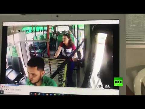 شاهد امرأة تسرق أموال الجباية من بيع تذاكر الركاب