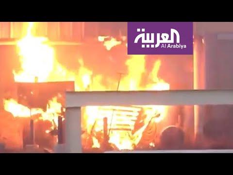 شاهد سقوط باليستي حوثي بمنطقة سكنية في صعدة