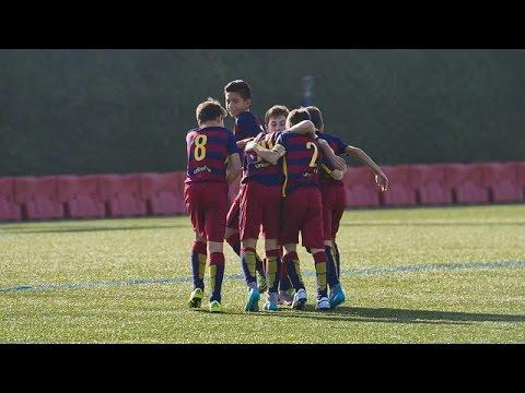 المغرب اليوم  - بالفيديو أهداف صغار برشلونة على طريقة نجومها
