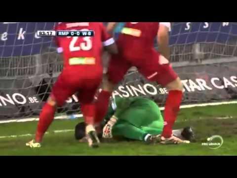 """بالفيديو حارس برازيلي يتصدى إلى ركلة جزاء """"قاتلة"""" في الدوري البلجيكي"""