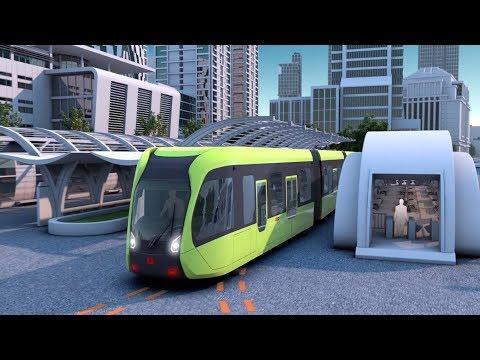 worlds first smart rapid rail bus starts test run