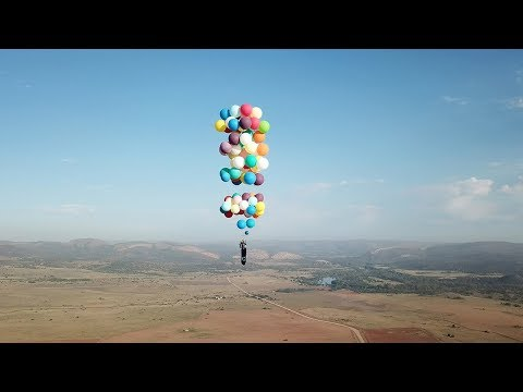 british 'up'style adventurer flies over south africa