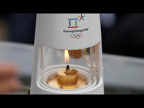 2018 olympic flame arrives in south korea