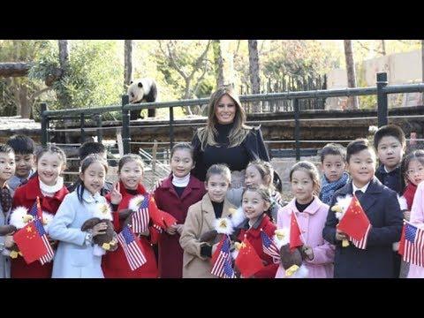 us first lady melania trump visits beijing zoo