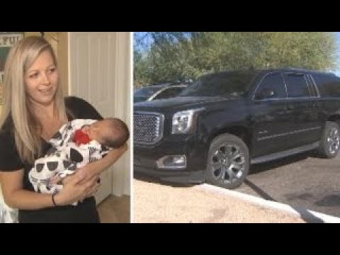 woman delivers baby