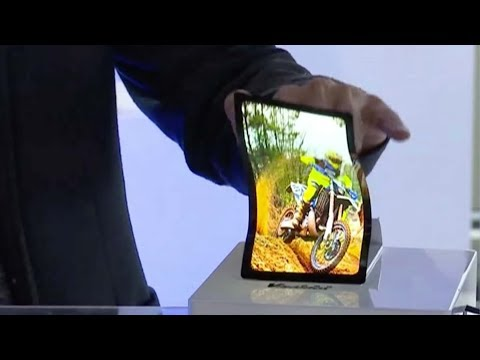 world's first doublesided folding screen debuts