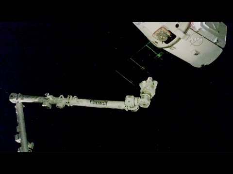 spacex dragon supply ship docks