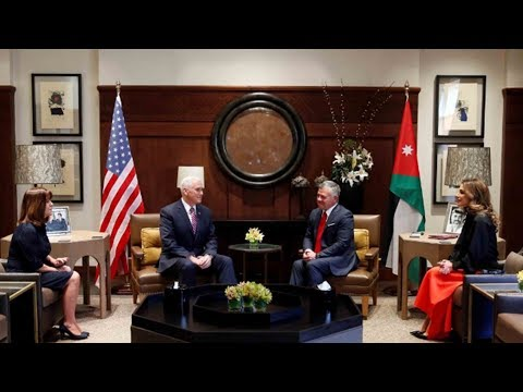 jordanian king tells pence twostate solution the only way
