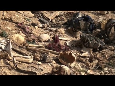 remains of more than 20 yazidis found