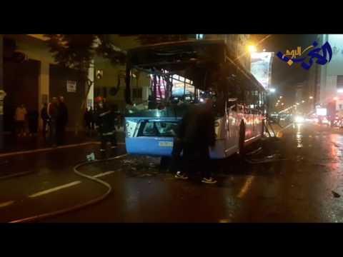 المغرب اليوم  - شاهد حريق في حافلة نقل وسط مدينة الدار البيضاء
