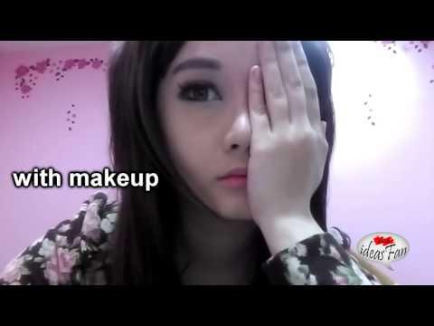 المغرب اليوم  - بالفيديو  فتاة تصدم متابعيها بإزالة المكياج عن نصف وجهها