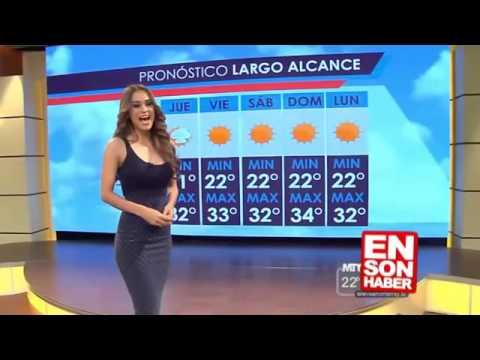 المغرب اليوم  - شاهد مذيعة الأحوال الجوية المكسيكية التي شغلت العالم
