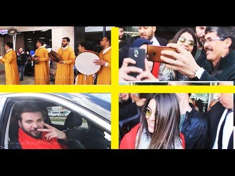 المغرب اليوم  - شاهد استقبال رائع للفنانين منار ومحمود في مطار محمد الخامس