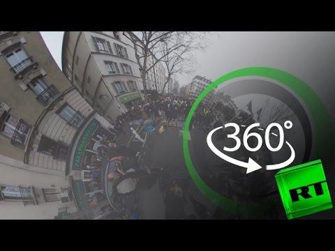 المغرب اليوم  - شاهد مسلمو باريس يصلون من أجل مسجد كليشيلاغارين