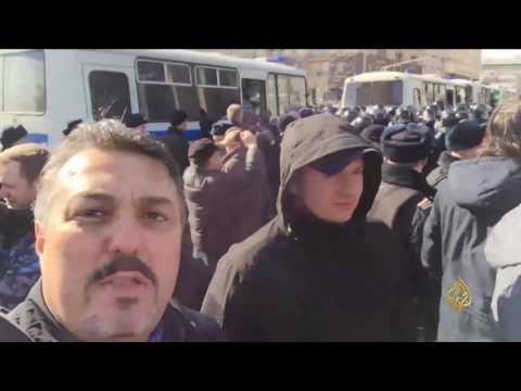 المغرب اليوم  - مظاهرات للمعارضة الروسية احتجاجا على تفشي الفساد