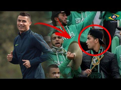 المغرب اليوم  - بالفيديو  شبيه كريستيانو رونالدو يظهر في مدرجات الدوري المغربي