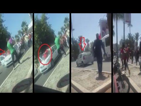 المغرب اليوم  - شاهد سائق يصدم امرأة ويهرب دون أن تسقط على الأرض