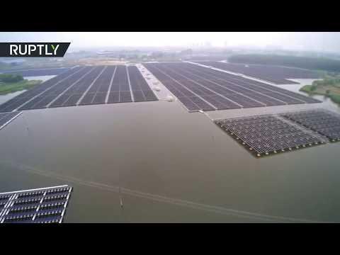 المغرب اليوم  - شاهد أكبر محطة طاقة شمسية عائمة بالعالم في الصين