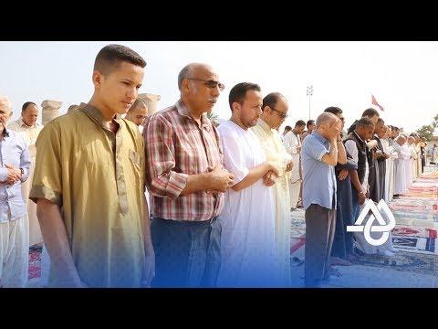المغرب اليوم  - شاهد صلاة العيد في مسجد حسان