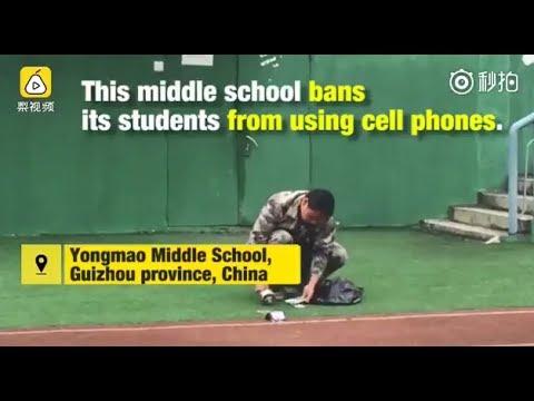 المغرب اليوم  - مدرسة صينية تحطم هواتف الطلاب لتلقينهم درسا قاسيا