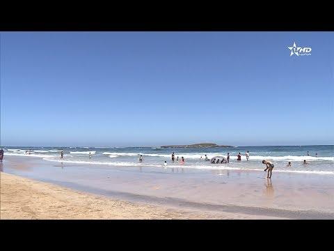 المغرب اليوم  - شاهد اللواء الأزرق يرفرف للمرة الـ 10 على شاطئ الصخيرات