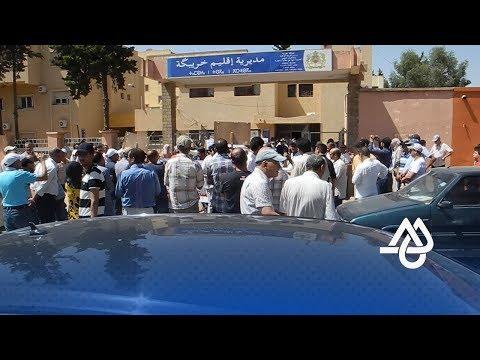 المغرب اليوم  - شاهد  احتجاج أساتذة من خريبكة