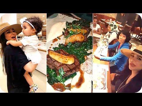 المغرب اليوم  - شاهد لجين عمران ومهيرة عبد العزيز يعزمون الخدم على لحم الغزال