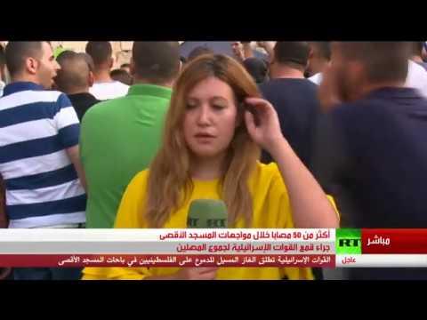 المغرب اليوم  - شاهد أكثر من 50 مصابًا داخل باحات المسجد الأقصى